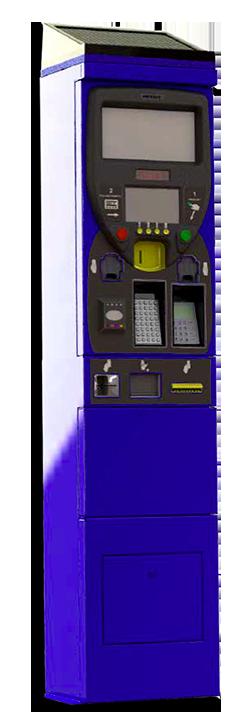 Parcometro monete, banconote e carte di credito